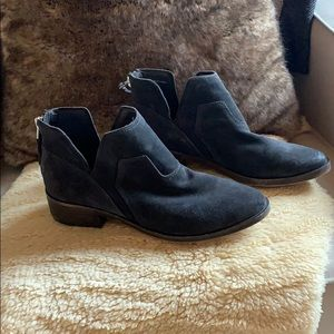 Dolce Vita charcoal grey suede  booties